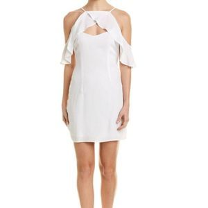 BB Dakota White Kaless Cross Front Open Dress sz 8